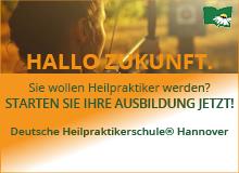 Banneranzeige der Deutschen Heilpraktikerschule Hannover
