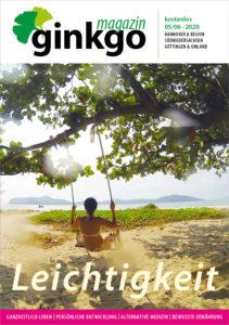 Titelbild des Ginkgo Magazin 05/06-2020 Leichtigkeit